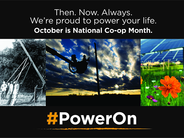 National Co-op Month PowerOn logo