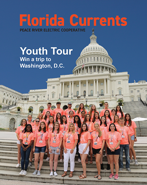 Cover of the Florida Currents magazine with Youth Students at the US Capitol