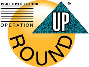 Operation Round Up Logo cobranded with Peace River Electric
