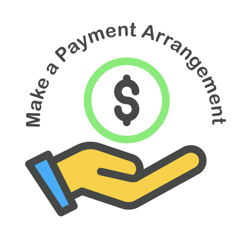 Make a payment logo with hand and coin